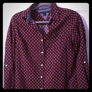 Stylish Poppy Detailed Dress Shirt